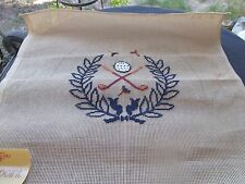 REYNOLDS PREWORKED NEEDLEPOINT CANVAS MADEIRA PORTUGAL GOLF CLUB BALL 19X19""