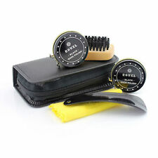 LP27437 Shoe Shine kit in zip around Black wallet By Lesser & pavey £4.99