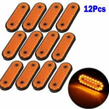 12pcs/set Oval Amber 20 LED Trailer Truck Lights Clearance Side Marker Light