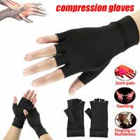 2PCS Copper Fit Arthritis Compression Gloves Hand Brace Support Pain Relief