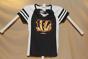 Cincinnati Bengals NFL Fan Fashion JERSEY/Shirt  MAJESTIC Womens Medium  NWT $50