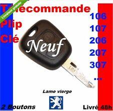 COQUE CLE PLIP 307 206 107 106 PEUGEOT TELECOMMANDE NEUF