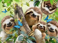 NEW! Ravensburger Sloth Selfie by Howard Robinson 500 piece animal jigsaw puzzle
