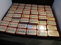 60 Empty Altoids Metal Tins, DIY's, Storage, Crafting, Red, 1.76 oz. Peppermint