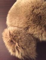 Collo in pelliccia di volpe, autentico, nuovo