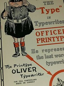 RARE Original 1915-1917 OLIVER TYPEWRITER Card Antique Rare Brochure Catalog EX6