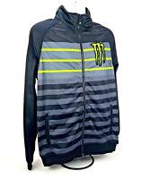 Monster Energy Sponsor Striped Soft Shell 100% polyester Jacket/Coat Black L