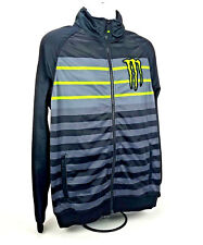 Monster Energy Sponsor Striped Soft Shell 100% polyester Jacket/Coat Black L