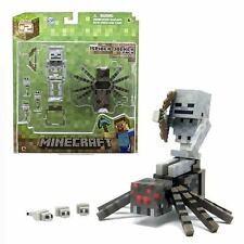"MINECRAFT OVERWORLD SPIDER JOCKEY PACK 3"" FIGURE - ARTICULATED BRAND NEW IN BOX"