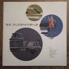 Oldsmobile ORIG 1963 USA Mkt opuscolo di grandi dimensioni Prestige-NOVANTA OTTO Jetfire 88