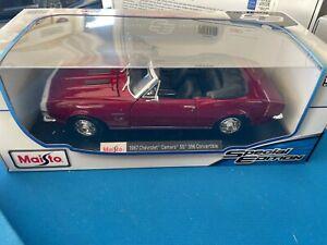 Maisto 1967 Chevrolet Camaro SS Convertible Die Cast Car Model 1:18 red