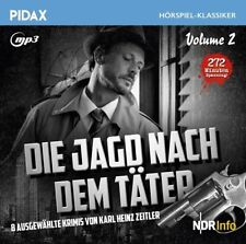 Die Jagd nach dem Täter Vol. 2 *MP3 CD Krimigeschichten Karl Heinz Zeitler Pidax