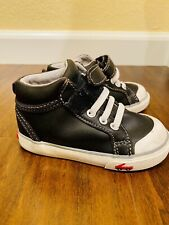 Toddler High Top Leather Sneakers See Kai Run Size 6