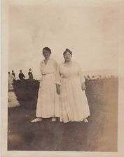 Old Vintage Antique Photograph Two Women Wearing Long White Dresses