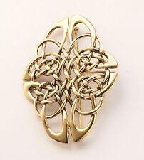 schöne Bronze Gewandspange Fibel Kelten Knoten Mittelalter mit Öse für Gehänge