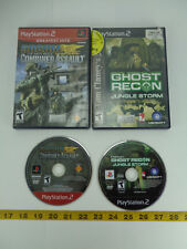 Lot of 2 PlayStation 2 PS2 Games Socom Combined Assault Ghost Recon Jungle A