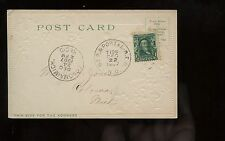 "US PPC Picture Post Card 1907 with Great RPO Cancel ""ST.P.&PORTAL."" to Coloma"