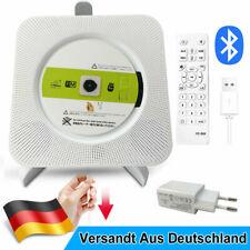 Tragbarer Bluetooth MP3 Spieler CD Player USB Lautsprecher Musik Player Weiß DE