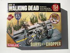 amc THE WALKING DEAD McFARLANE DARYL w CHOPPER BUILDING SETS NEW MIB 154 PIECES!