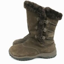 Baffin Womens Winter Boots 11 Suede Miku Dawa Mismatched Coloring Faux Fur Edge