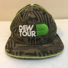 Mountain Dew Tour Fitted Cap Hat Small / Medium Brown Black Green Free Shipping