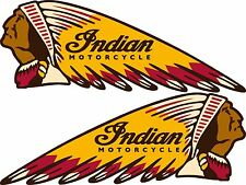 "Indian Motorcycles War Bonnet Vinyl Decal - 8.5"" X 3"" - Set Of 2"