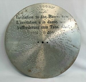 "ANTIQUE ORIGINAL KALLIOPE / MIRA MUSIC BOX DISCS 12"" STRAUSS JP KNIGHT - SWISS"