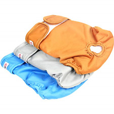 Wegreeco Washable Reusable Premium Dog Diapers, Extra Large, Natural Color, for