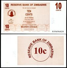ZIMBABWE 10 CENTS 2006 BEARER CHEQUE P 35 UNC