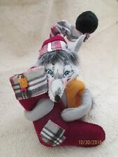 "Festive Annalee Woodland Plaid Tidings Fox 6"" Figure-Nwt-Dilliards Exclusive!"