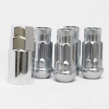 Muteki SR48 Tuner 48mm Extended Open Ended LOCK Nuts Set 12x1.25 SILVER 4pc New