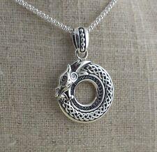 Sterling Silver Celtic Dragon Pendant KEITH JACK Jewelry Strength & Wisdom
