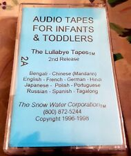 Lullabye Audio Tapes For Infants Toddlers NEW 12 Languages Japanese Portuguese