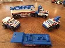 Vintage 80's Remco Toys Emergency Vehicles