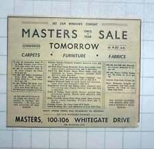 1951 Masters Carpets, Furniture, Fabrics Whitegate Drive Blackpool
