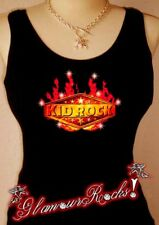 Kid Rock Band Concert Crystal Rhinestone Tee Shirt Tank Top T Glamour bling