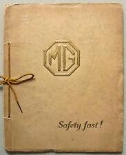 Mg voiture gamme pour 1928 sales brochure connolly artwork 8/33 midget 18/80 six