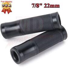 """MOTORCYCLE HAND GRIPS 7/8"""" 22mm HANDLEBAR GEL FOR SUZUKI GSXR 600 750 1000 BLACK"""