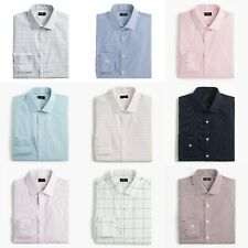 J.Crew Dress Shirt Mens Ludlow Slim Fit Easy-Care Stretch Casual Long Sleeves