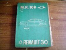 MANUEL DE REPARATION CARROSSERIE RENAULT 30 M.R. 169 R 1273