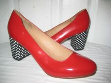 9a6c981203ba07 CREATURES OF COMFORT RED CHECKERED HEELS PUMPS SHOES SIZE 40   9.5