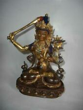 Antique Nepal Tibet TOP HIGH AGED USED NEWARI GILT BRONZE BUDDHA MANJUSHRI
