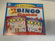 Carson Dellosa US States and Capitals 2 Bingo Games New In Shrink Wrap -Fun!