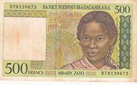 Billet banque MADAGASCAR 500 francs 1994 état voir scan 675