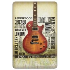 Guitar Music World Cities Home Business Office Sign