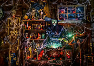 Halloween Scary Witch Skull 300Pcs Jigsaw Puzzle Adult Kid Educational Toys