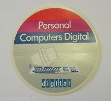 VECCHIO ADESIVO ORIGINALE /Old Original Sticker PERSONAL COMPUTER DIGITAL (cm 8)