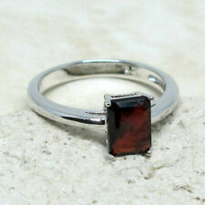 AWESOME 1 CT GENUINE AFRICAN GARNET 925 STERLING SILVER RING SIZE 5-10