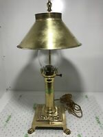 Vtg  Brass PARIS ORIENT EXPRESS ISTANBUL Table Desk Lamp Adjustable Shade Claw