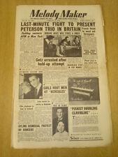 MELODY MAKER 1954 FEBRUARY 27 HAROLD FIELDING STAN GETZ RONNIE SCOTT ORCHESTRA
